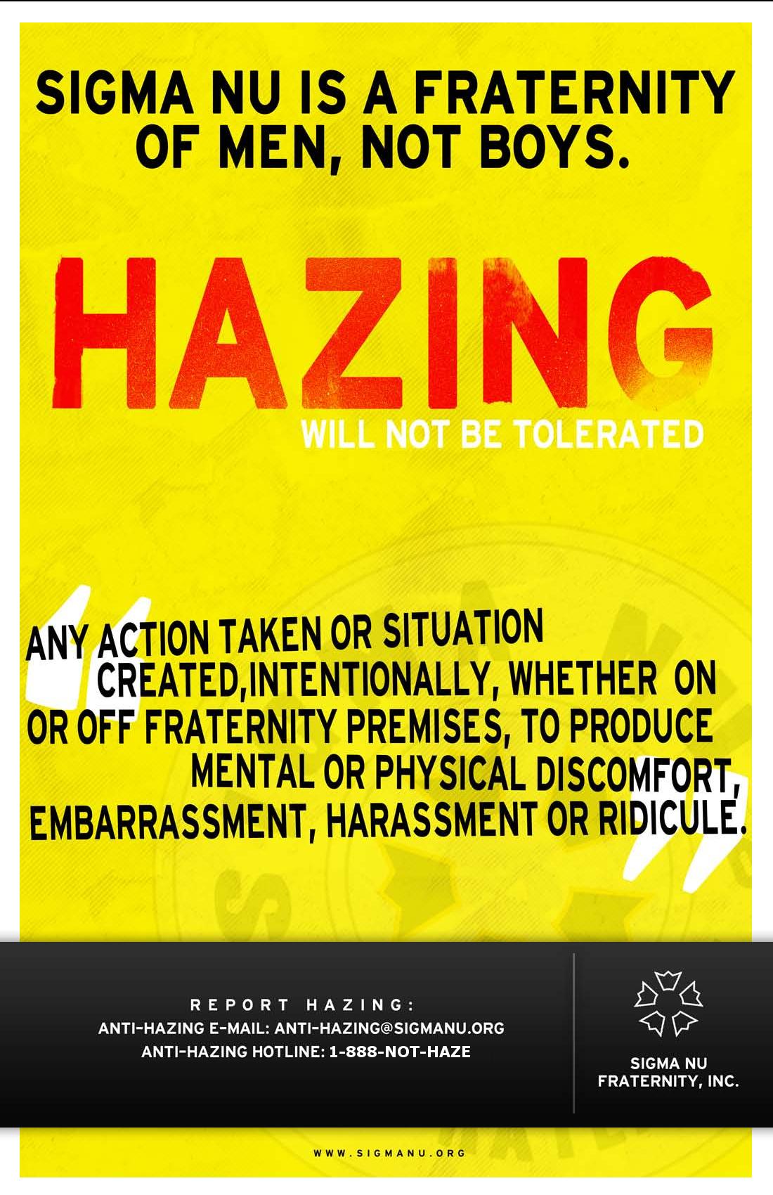 Anti-Hazing Poster