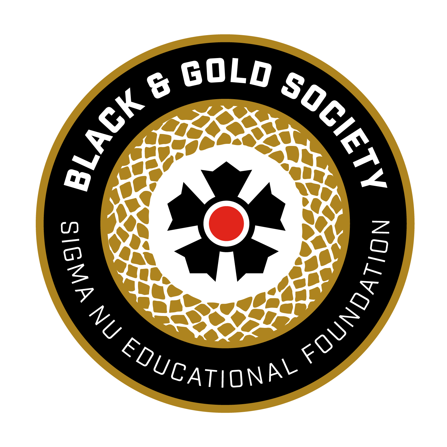 Black and Gold Society Logo - Circle