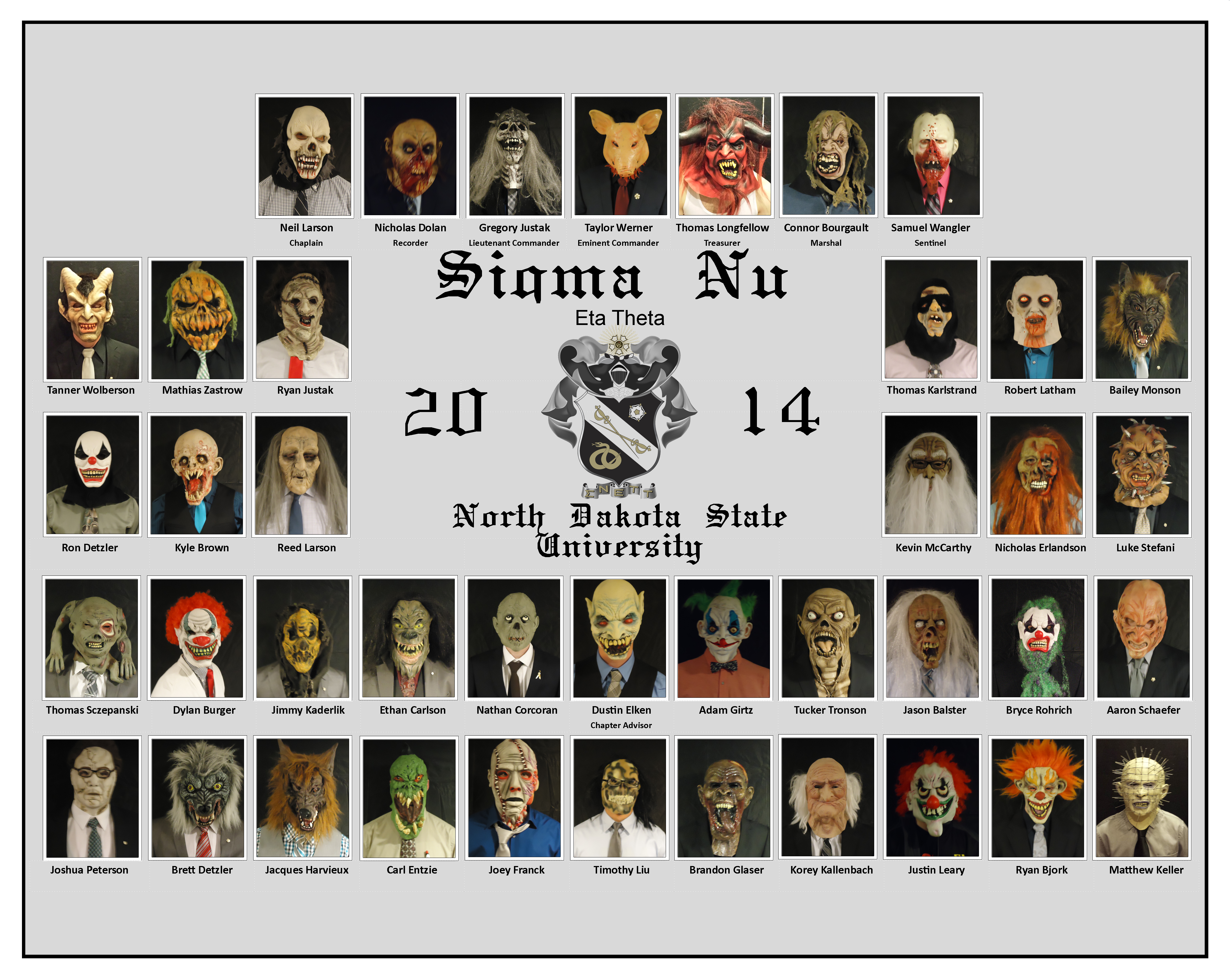 Eta Theta brothers made a special composite with their haunted house  costumes and masks. The haunted house philanthropy put on by the brothers  raised $2,811 ...