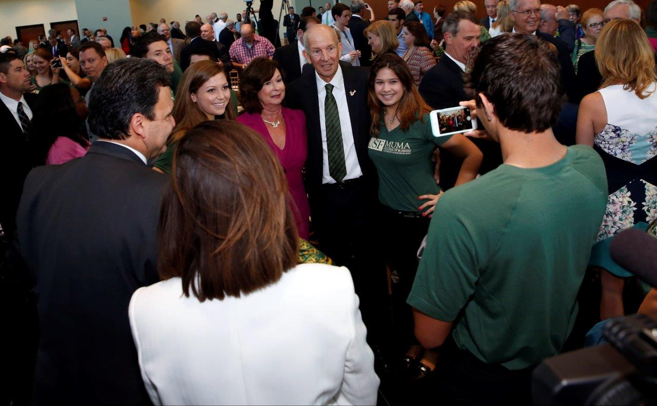 Les and Pam with USF Students