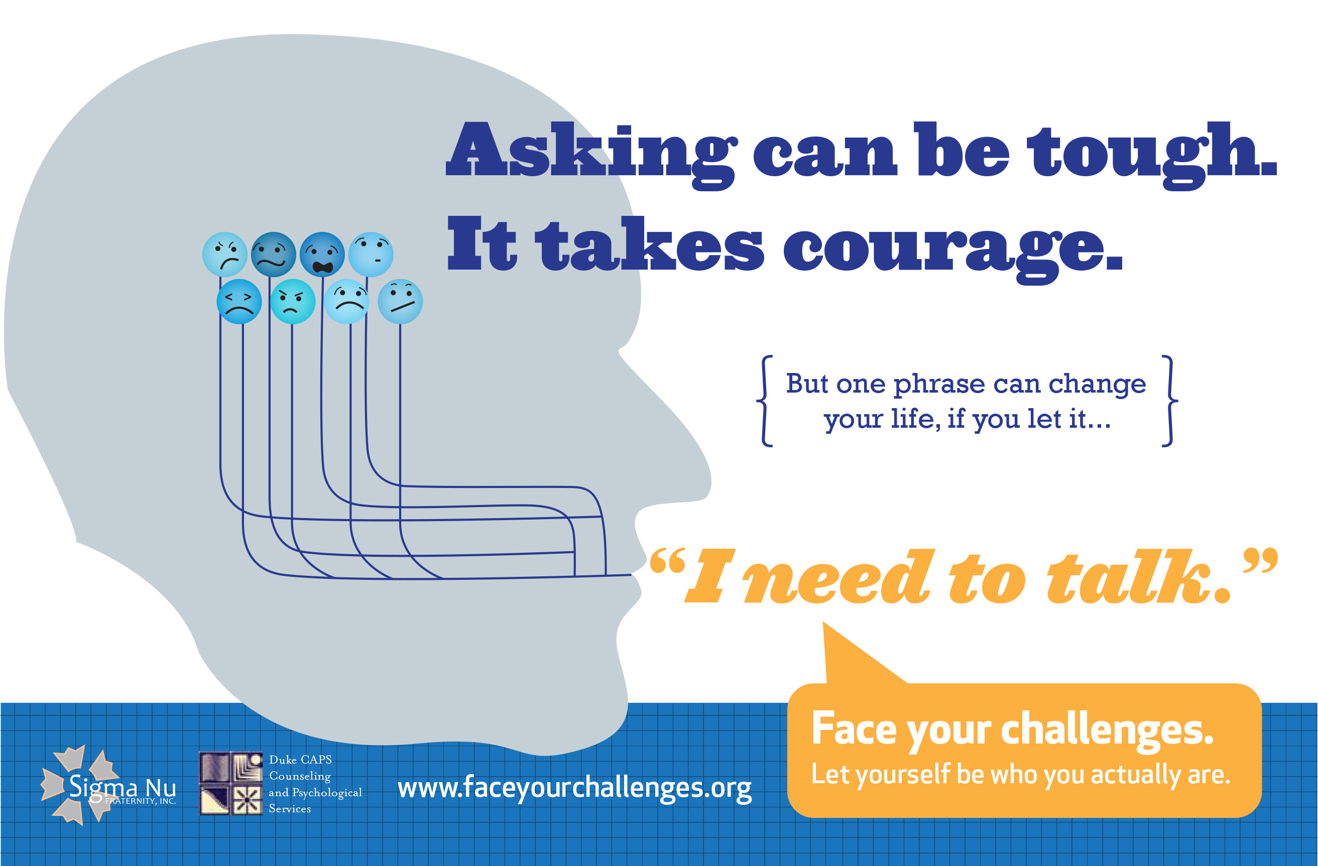 Face Your Challenges Flyer