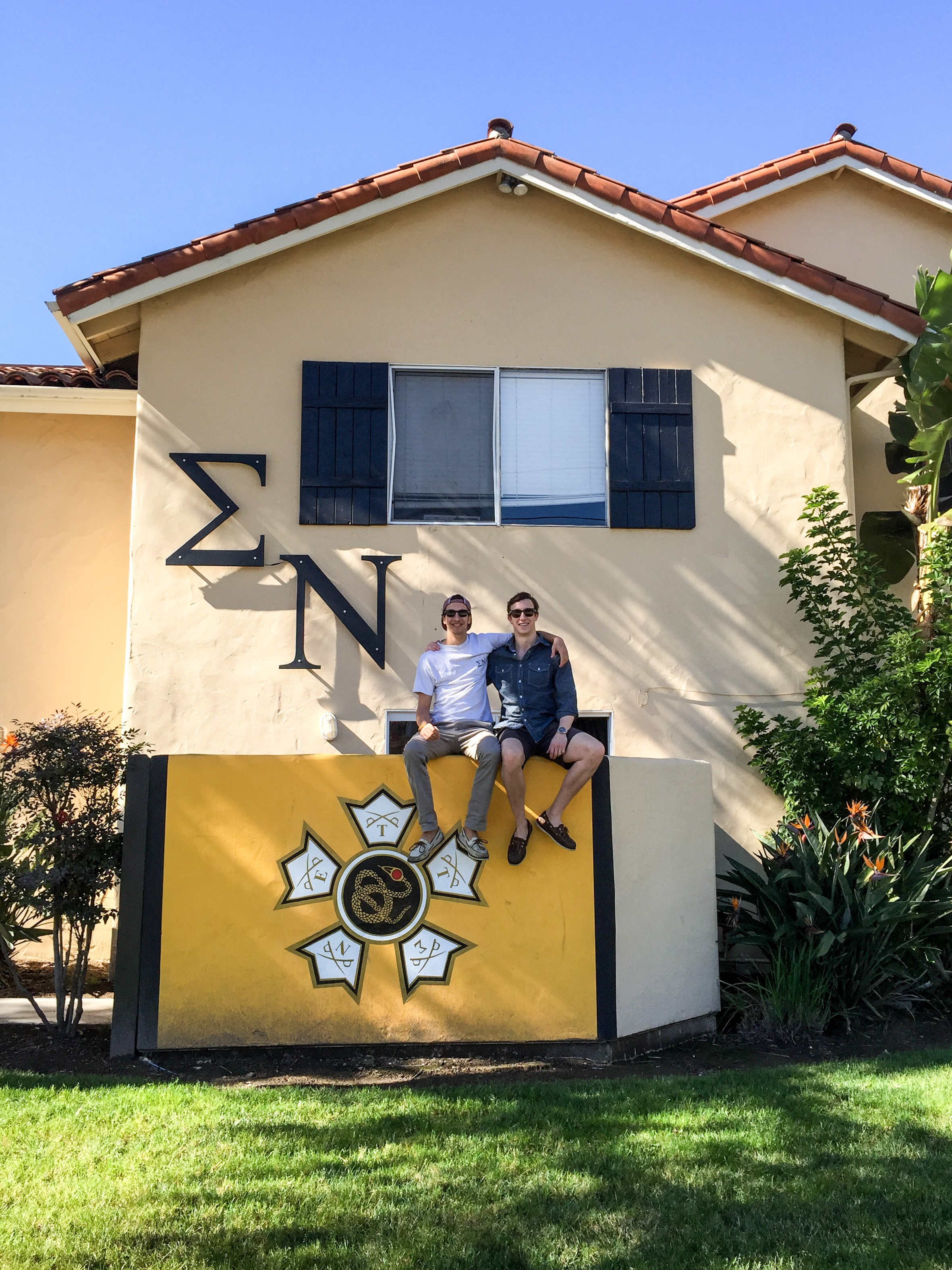 James and Adrian at UCSB House